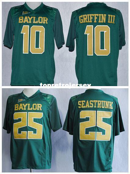 online store 4327c bfcf5 Baylor 10 Robert Griffin III College Jerseys American Football 25 Lache  Seastrunk Jersey Team Color Green All Stitching jerseys