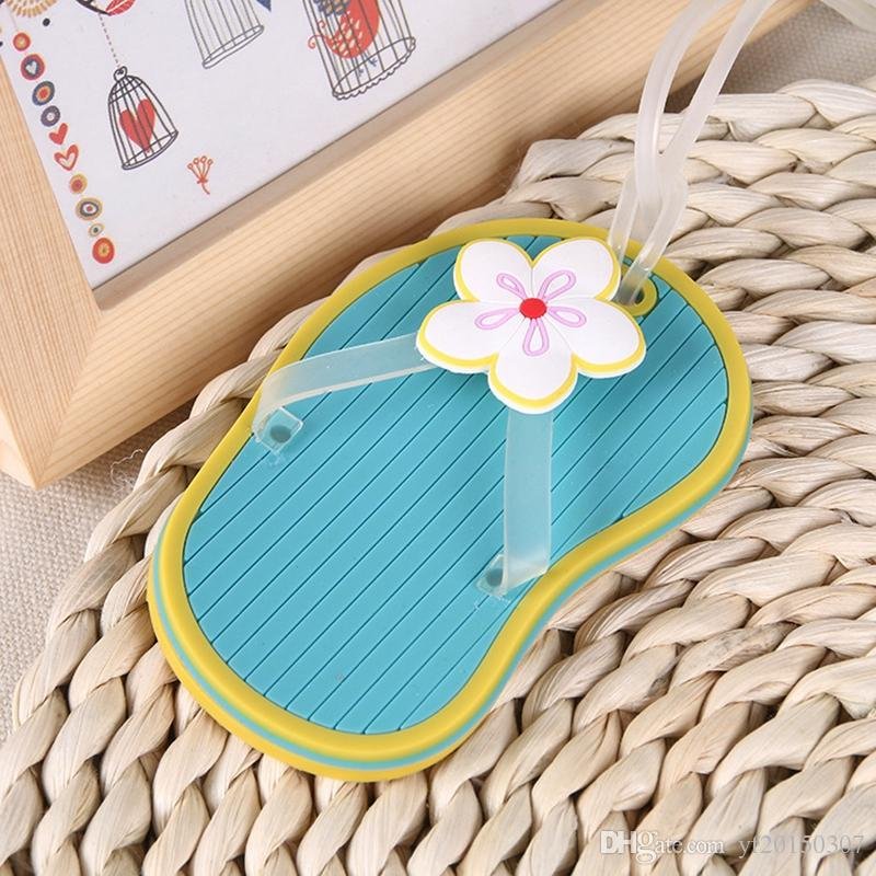 66fb8fefabe434 Flip Flop Luggage Tag Beach Style Wedding Gift Party Favor Bridal Shower  Gifts Kids Party Prizes Kids Party Supplies From Yf20150307