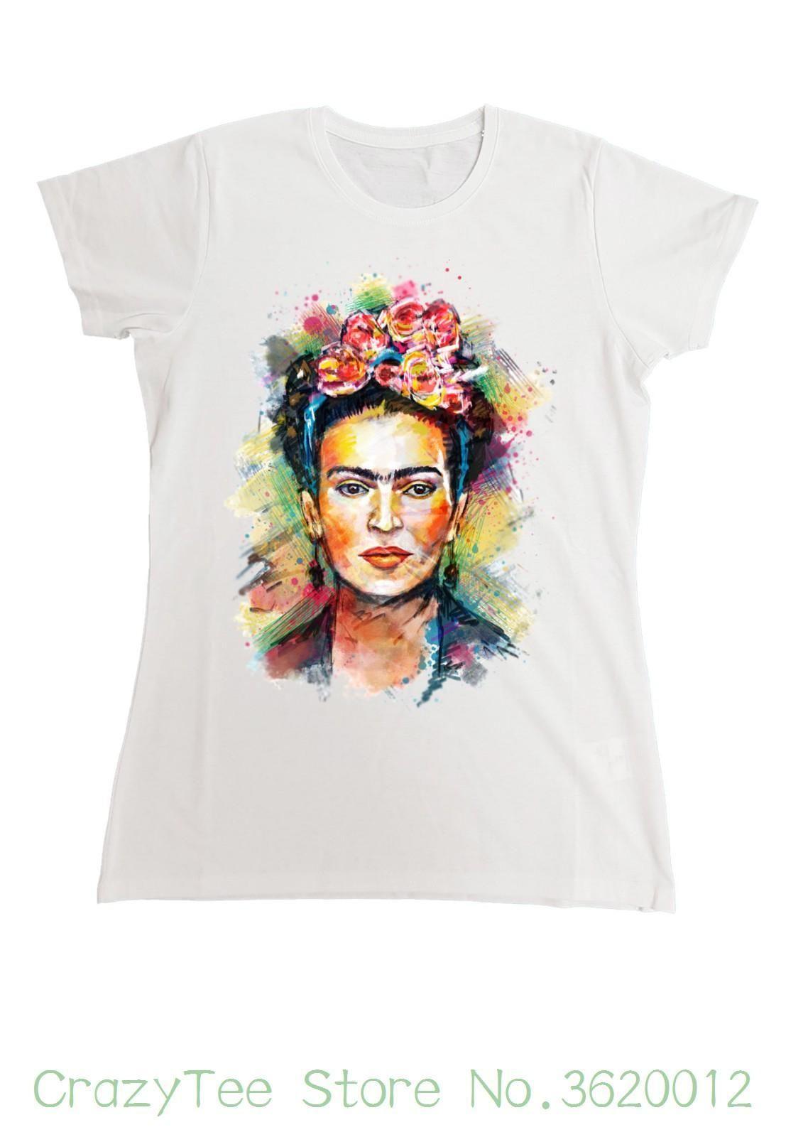 info for cedac 5eba7 Women s Tee Donna Frida Kahlo T Shirt Magietta Icona Femminista Artista Art  Cool Ladies Tees