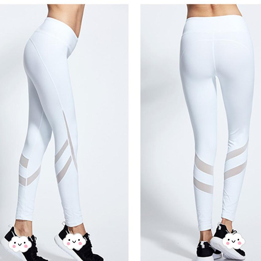 db3cb8dfba 2019 White Mesh Legging Yoga Tights Running Tights Women Gym Clothing For  Women Sport Leggings Sportswear Compression Pants From Prescott, $23.78 |  DHgate.