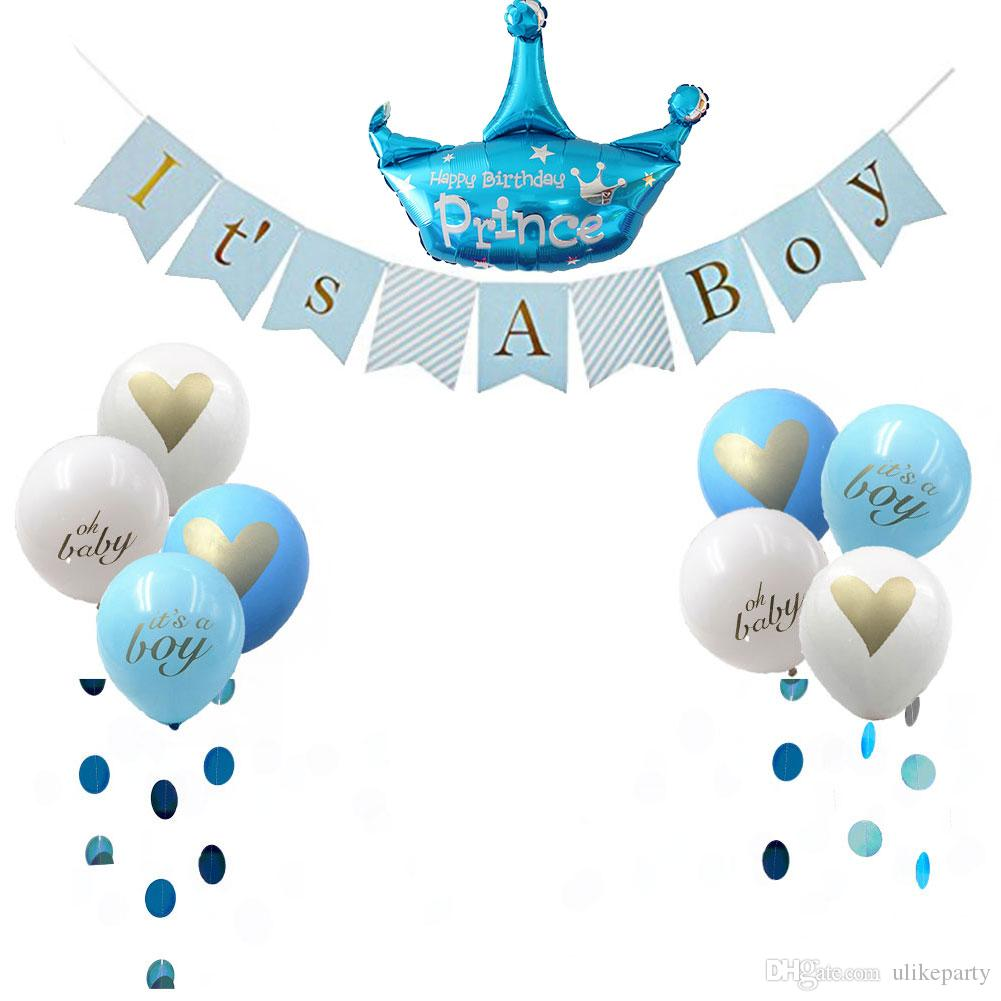 Decoracion De Baby Shower Para Nino.Baby Shower Decorations For Kids Its A Girl Boy Garland Bunting Banner Balloons Kit With Ribbon Pink Blue Theme Party Canada 2019 From