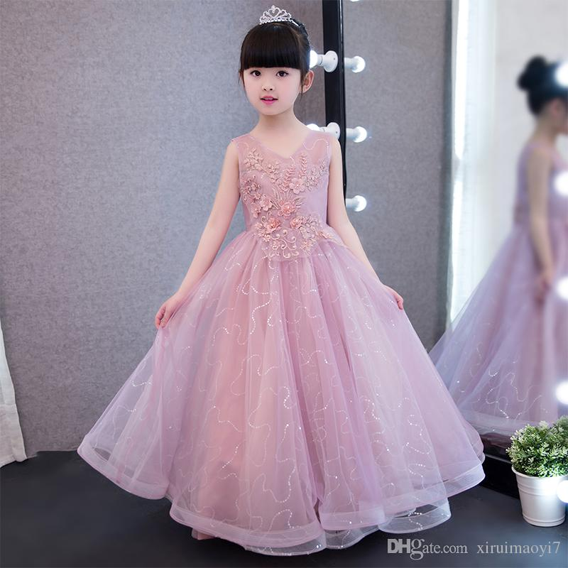 Glizt Children Kids Prom Gown Designs Little Baby Girl Party Frocks ...
