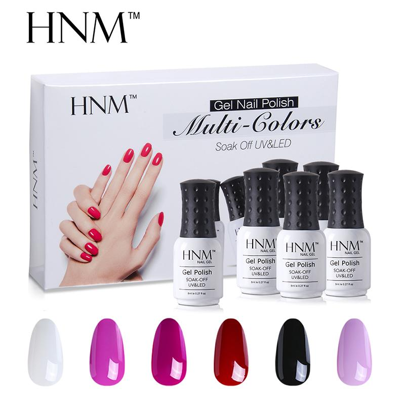 Hnm /Set Uv Gel Nail Polish Kit Manicure Diy Nail Art Gelpolish Box ...