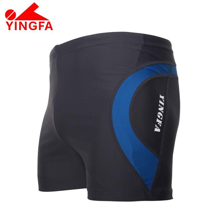 4de83435bc YINGFA FINA Swimwear shorts Mens professonal swimming trunks Racing  Competition Sexy Swim Suit boy's sharkskin