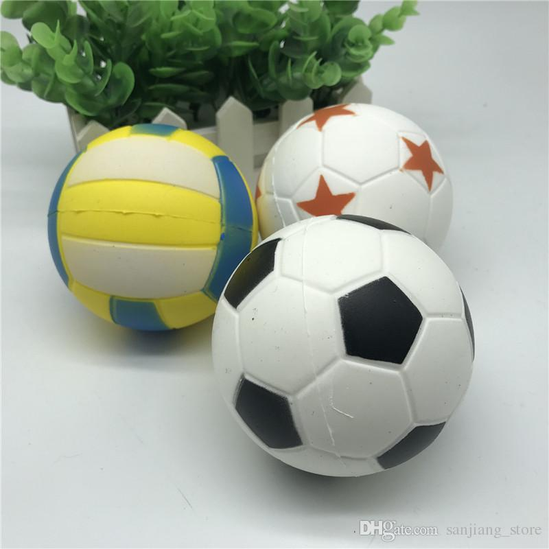 Kawii Squishy Fußball Fußball Volleyball Decompressoin Spielzeug Nette PU Weiche Squeeze Langsam Steigenden Phone Straps Anhänger Sport Ball Spaß Kind Spielzeug Neu