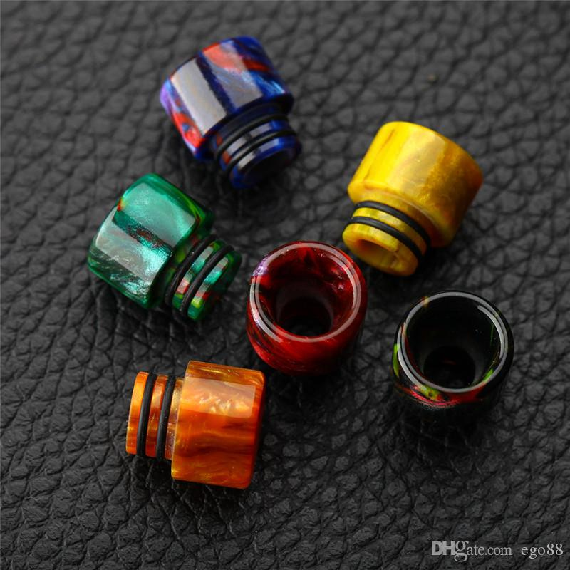 Newest Epoxy Resin drip tips SS Colors Wide Bore 510 dripper Mouthpiece for Smok TFV8 TFV12 Big Baby Tank Kennedy
