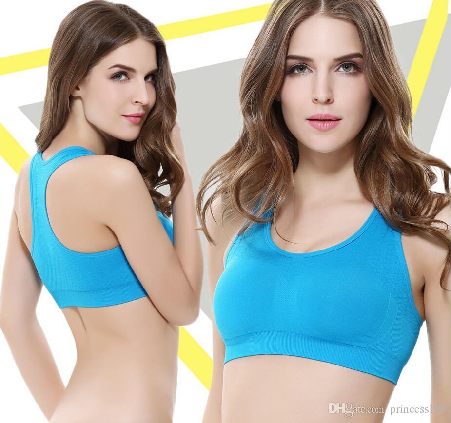 Hohe Festigkeit Shockproof Sport Unterwäsche Laufen Yoga Fitness Weste Sport-BH Ohne Stahlring