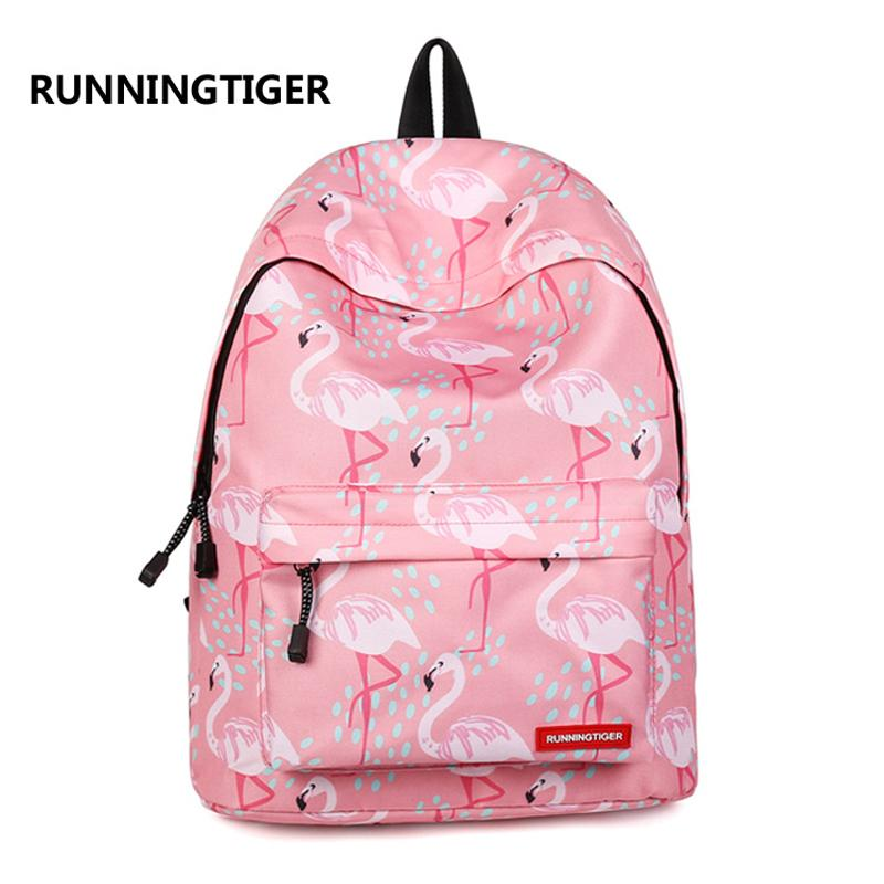 Women Backpack For Teenage Girls School Backpack Bag Flamingo 3d Printing  Canvas Female Backpacks For College Students Book Bags School Backpacks  From Lusta ... 2db34e2f2ccea