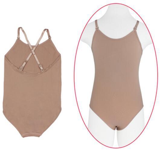bac9411e261 Child Adult Sexy Seamless Camisole Skin Colored Gymnastics Leotard Girls  Kids Dance Ballet Underwear Nude Leotard