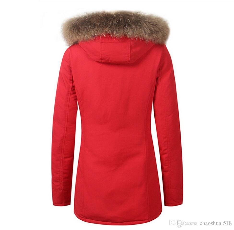 Fashion Woolrich Women Arctic Anorak Down jacket Woman Winter goose down 90% Outdoor Thick Parkas Coat Womens warm outwear jackets