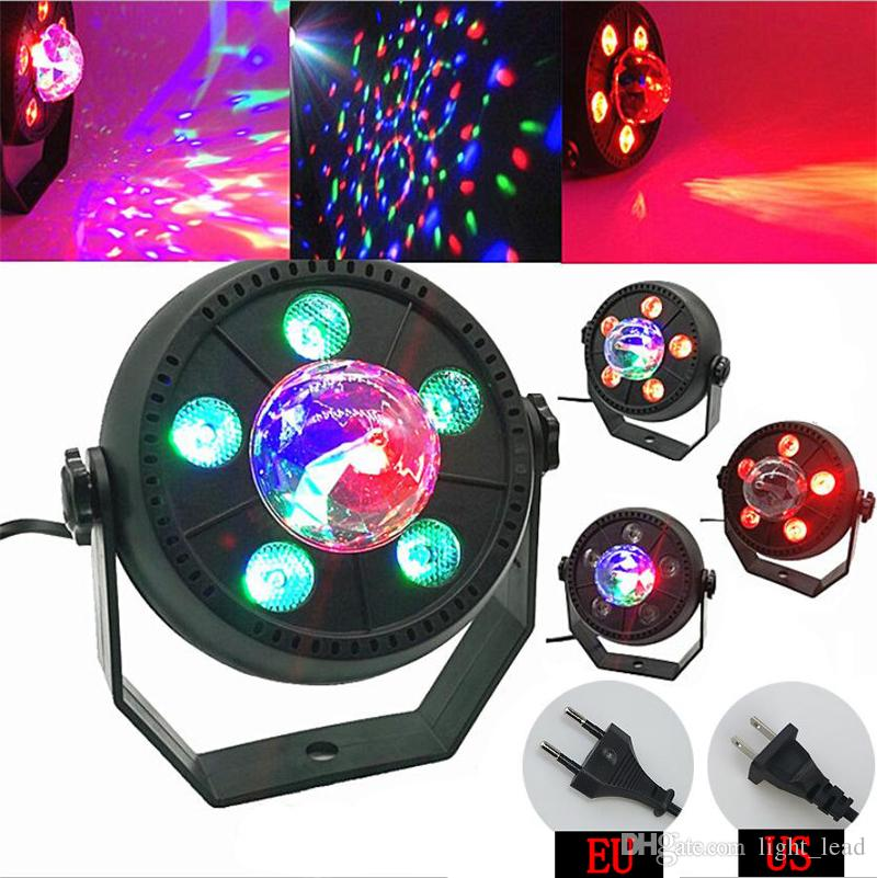 LED Stage Light 11W RGB Music Sound Activated Automatic Rotating Magic Ball  Projector Dancing Party disco light for DJ KTV Bar