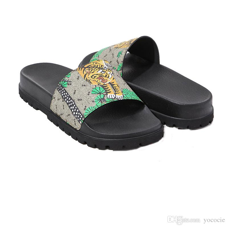 a9f3b9e38cc9 2018 High Quality Men s Designer Slippers Clip Feet Flip Style ...