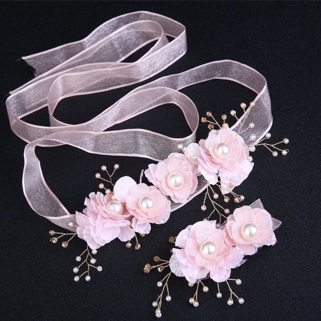 2019 Bride Wedding Headdress Handmade Pink