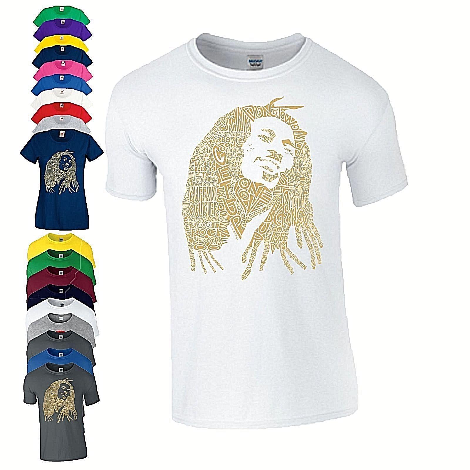 Großhandel Bob Marley Art T Shirt Calligram Mit Besten Liebesliedern ...