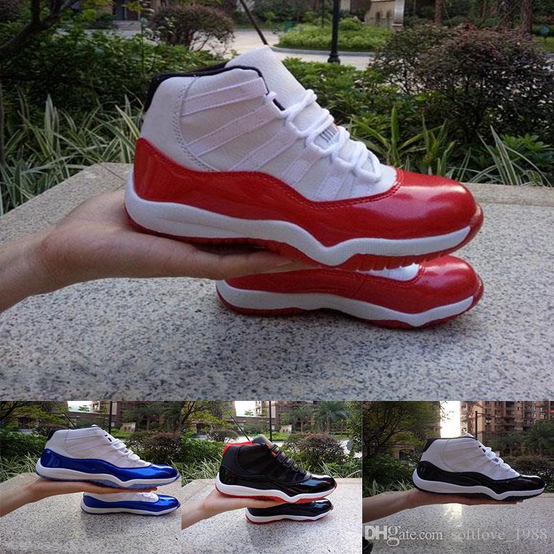 4b77c0920 Compre Nike Air Jordan 11 Ginásio Vermelho XI 11 Sapatos Da Criança Criada  Espaço Jam Crianças Basquete Sneaker Concord Gamm Azul New Born Bebê  Infantil 11 ...