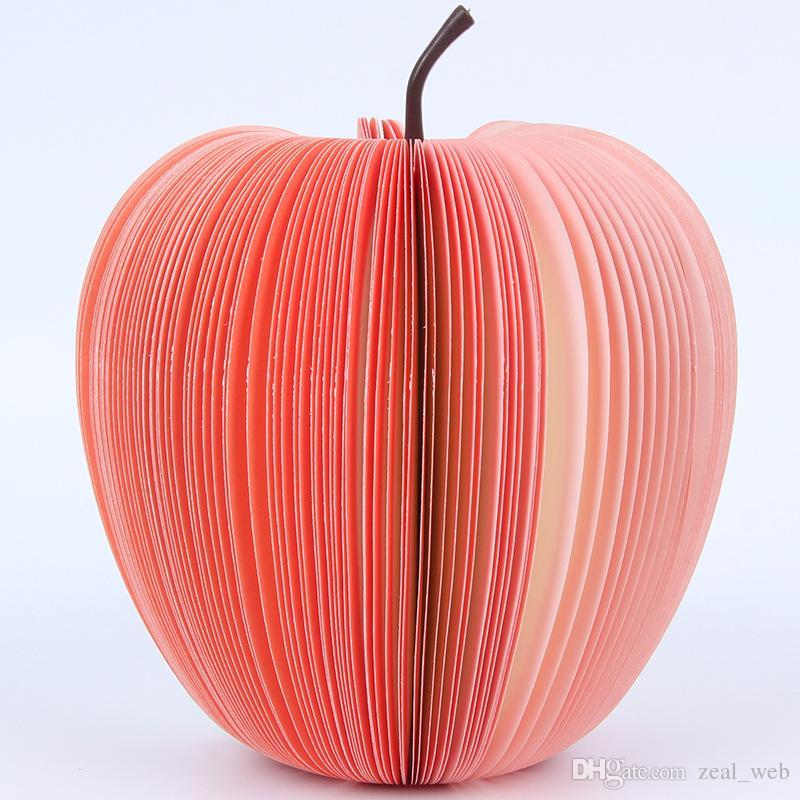 Poco costoso !!! Fai da te Cute Apple Pera verde Note di carta Frutta Verdura Quaderni Sticky notes Carta pop up note Ufficio Papelaria Forniture