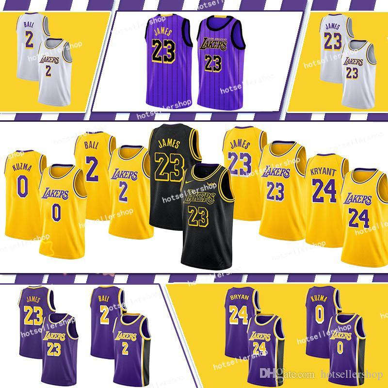 3f1c1cf05 Lakers Los Angeles James 23 Basketball Jerseys Lebron Jersey 2 Lonzo ...