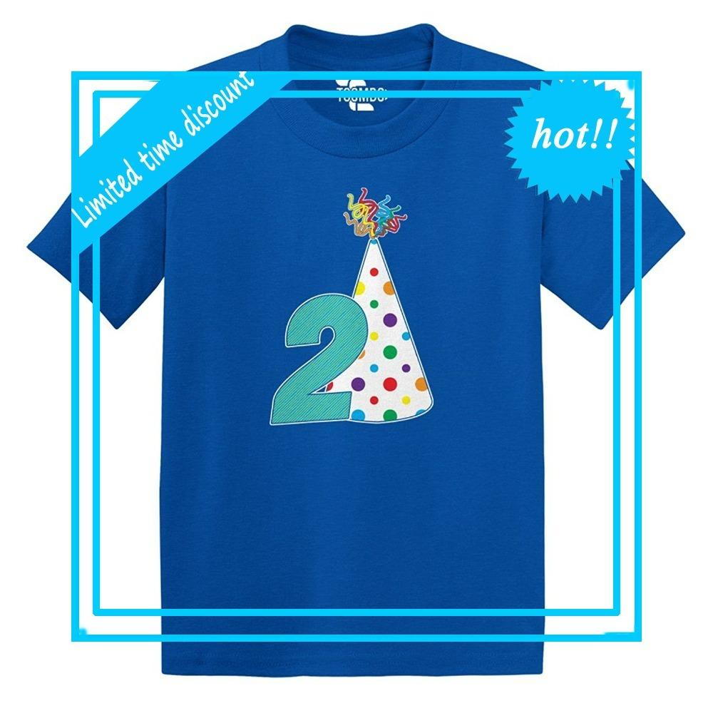 Anime Print Tee Second Anniversary 2 Years Old Birthday Toddler Little Boy Infant T Shirt Cotton Tees Crazy Shirts Online Cool Looking From