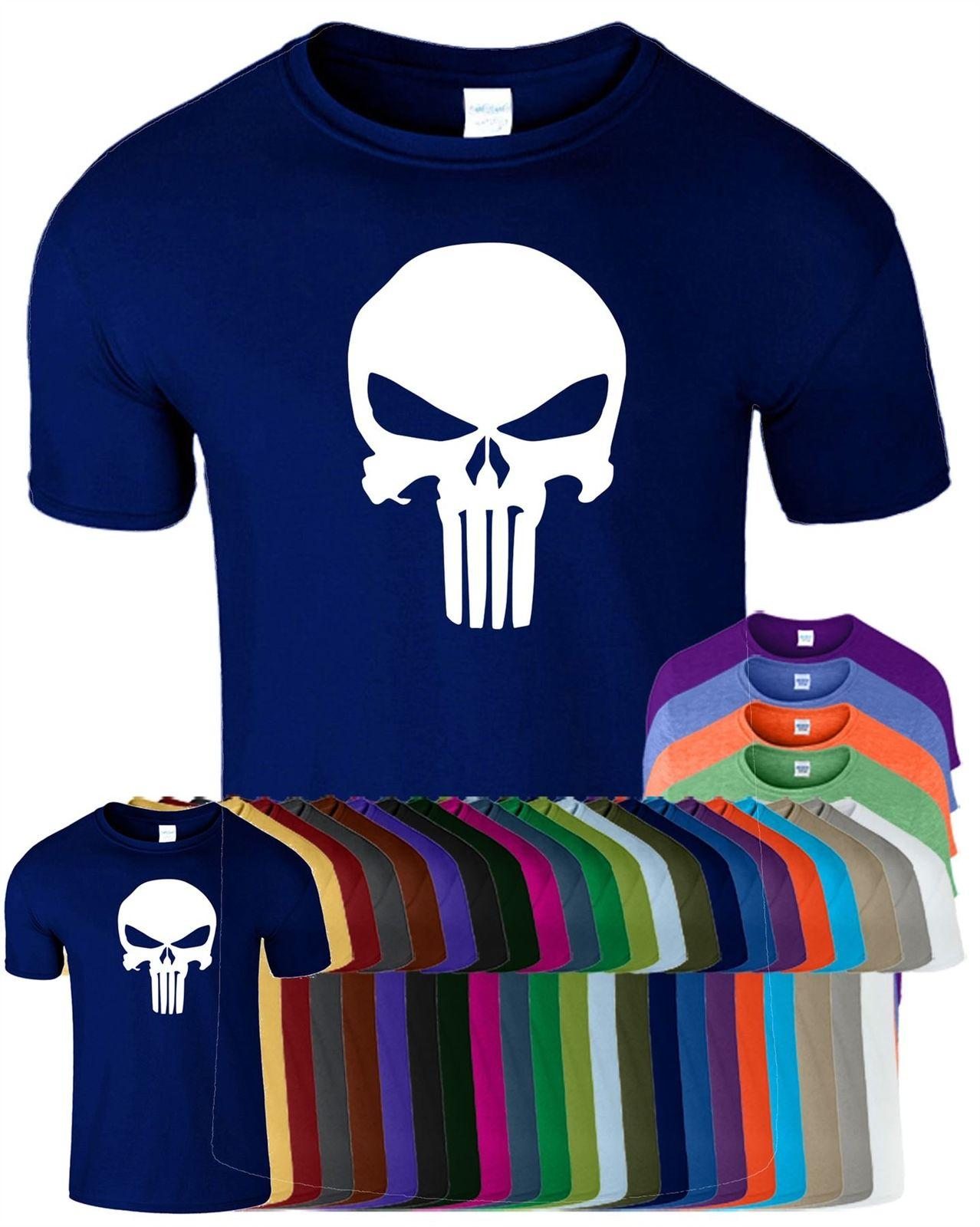 22662f829 Custom T ShiThe Punisher Skull Mens Gym T Shirt Training Bodybuilding Mua  Thai Top Tshirt Cool Casual Pride Quirky T Shirt Awesome T Shirts For Sale  From ...