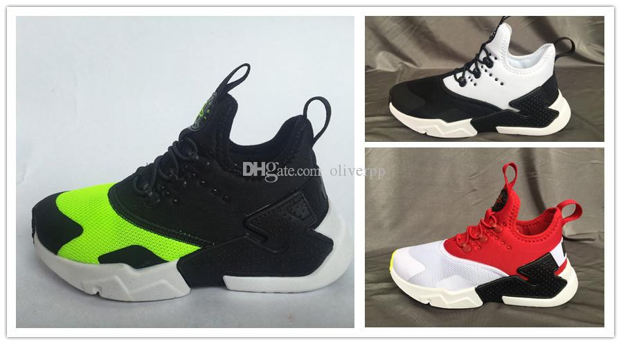 f7b2b295f2d0 2018 Children Air Huarache IV 4.0 Ultra Running Shoes Huraches Boys Girls  Shoes Baby Kids Triple Huaraches Sneakers Black Tennis Shoes For Girls  Little Boy ...