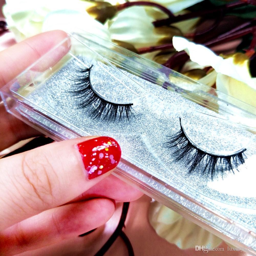 Seashine belleza visón pestañas 3D MINK Falsas pestañas Desordenado Dramático Falso Pestañas Maquillaje profesional Pestañas