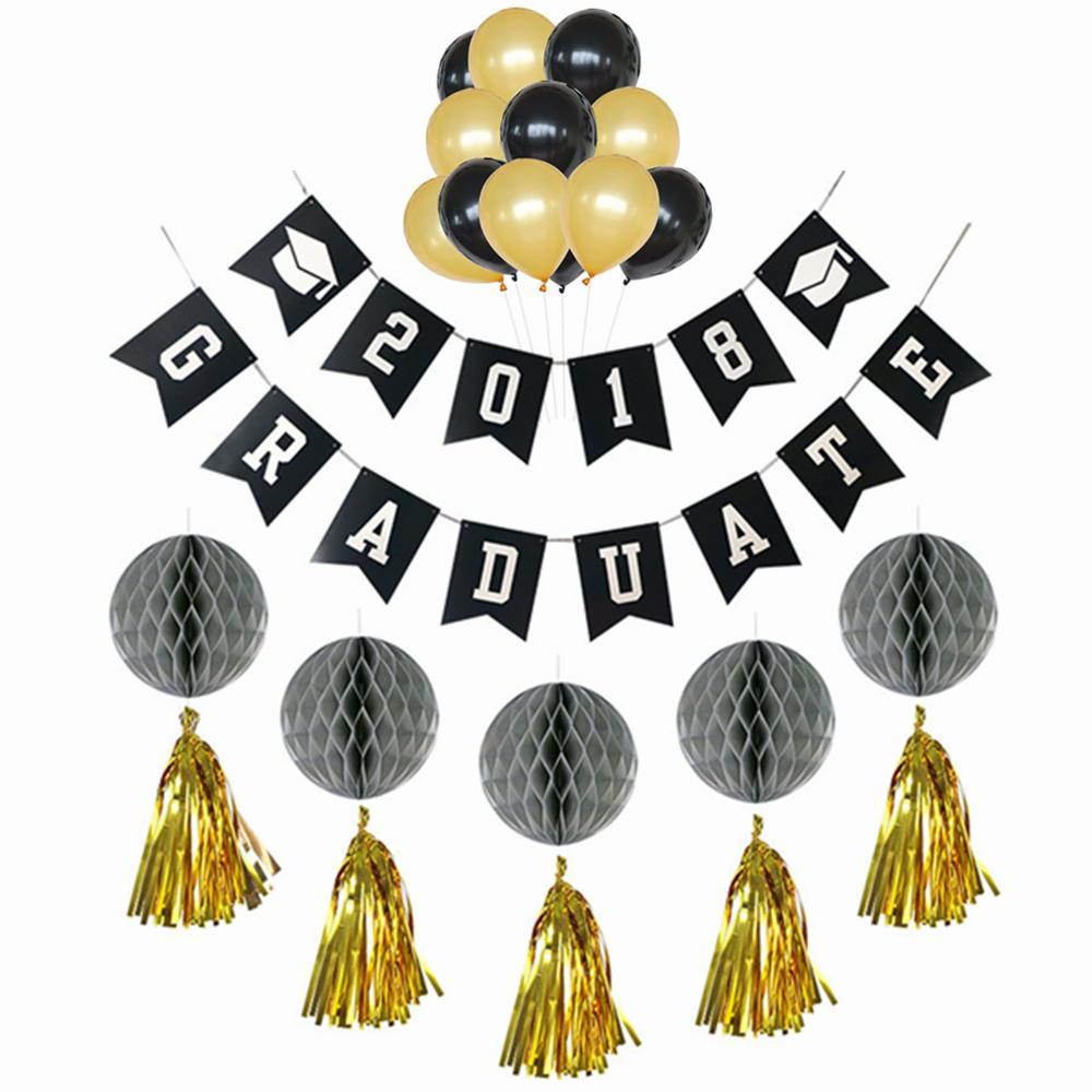 2018 2018 graduation party decoration graduate banner and balloons