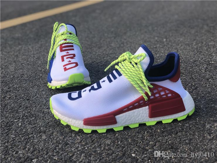 big sale 978a9 02a5a 2018 N.E.R.D x HUMAN RACE Trail x Pharrell men Running shoes ultra Red blue  Mandarin duck sport Sneakers