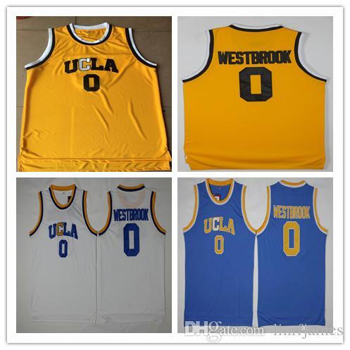 ... basketball jersey t shirt cdc86 f73d0  50% off ncaa mens ucla bruins 0  russell westbrook jersey yellow blue white westbrook college 8d2479bd0