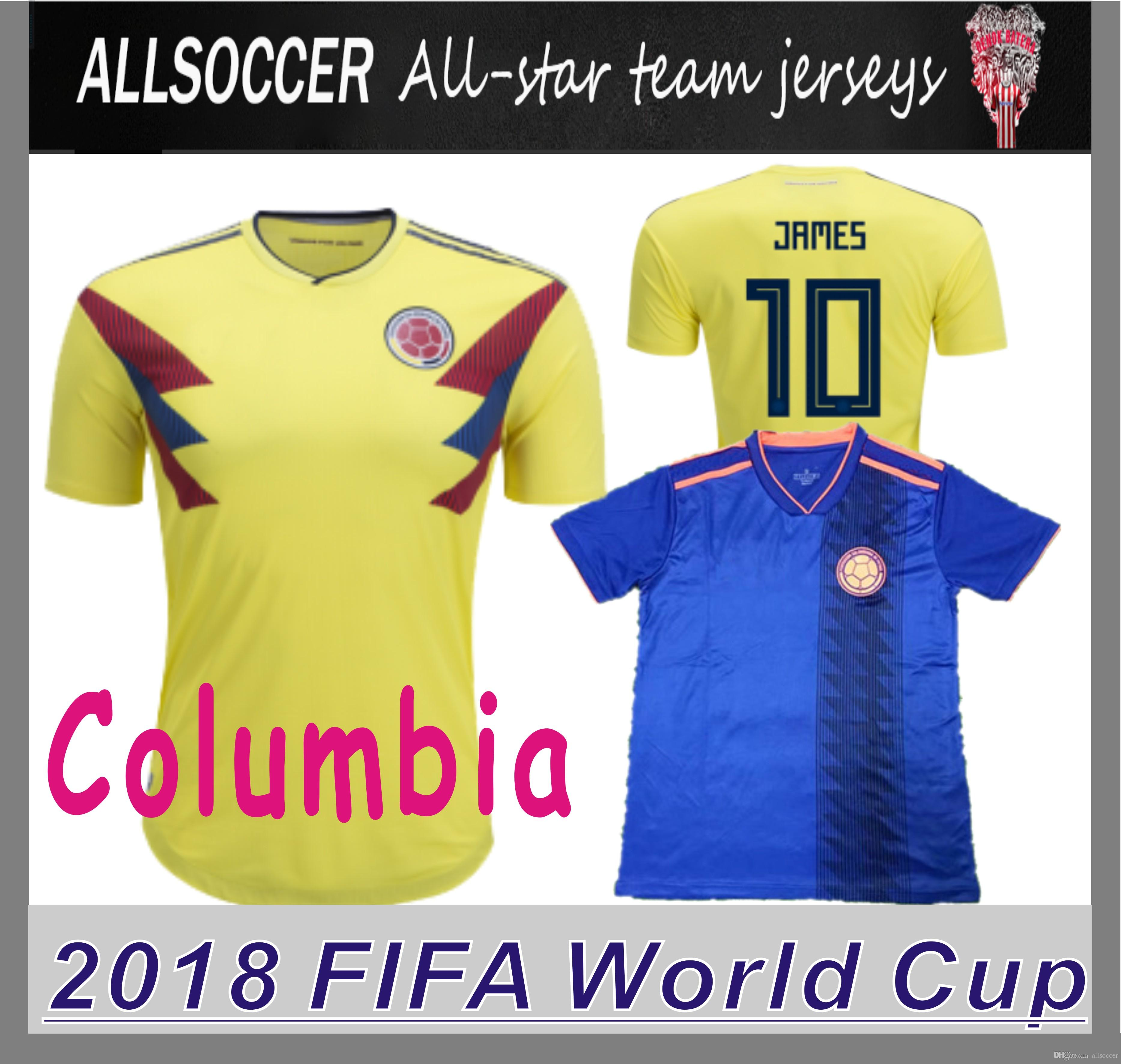 72fa39548 ... colombia national team; top quality 2018 world cup jerseys home and away  9 radamel falcao 10 james rodríguez 10