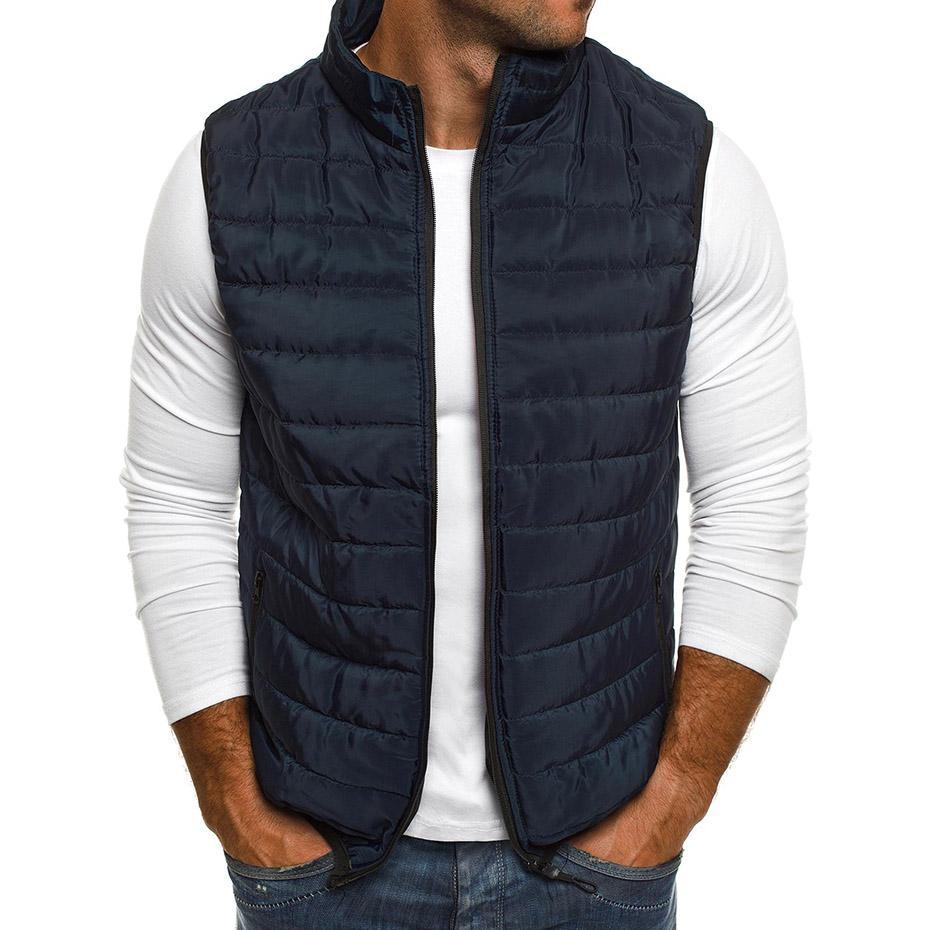 Großhandel Vogue Herbst Mantel Männer Plus Größe Weste Mens Parka Jacken  Reißverschluss Beiläufige Sleeveless Jacke Streetwear Mantel Für Mann  Kleidung Von ... e34904c29a