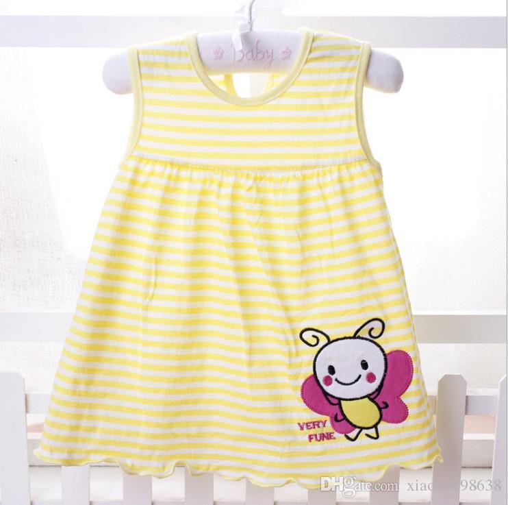 2018 Nueva infantil para niños niñas niño Una línea de vestido sin mangas impreso floral Una variedad de estilos entrega al azar el envío libre