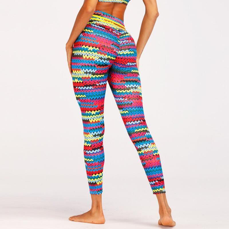 2e8936261e Compre 2018 Moda Hilo De Tejer Imprimir Patchwork Leggings Mujeres Fitness Ropa  Sporting Leggings Mujeres Pantalones Pantalones Mujer S18101502 A $15.07  Del ...