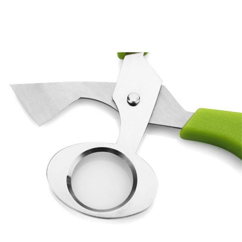 Creative Stainless Steel Cut Whisk Egg Apparatus Pigeon Quail Egg Scissor Bird Opener Kitchen Tool Clipper Gen Eggshell Cutter