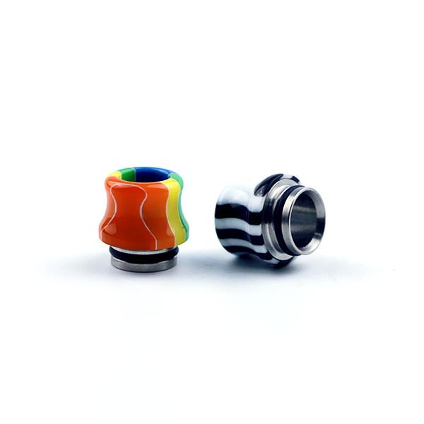 Colorful Rainbow Mushrooms Resin 810 Thread Resin Drip Tip Wide Bore Mouthpiece For TFV8 Big Baby GOON 528 RDA Prince Tank