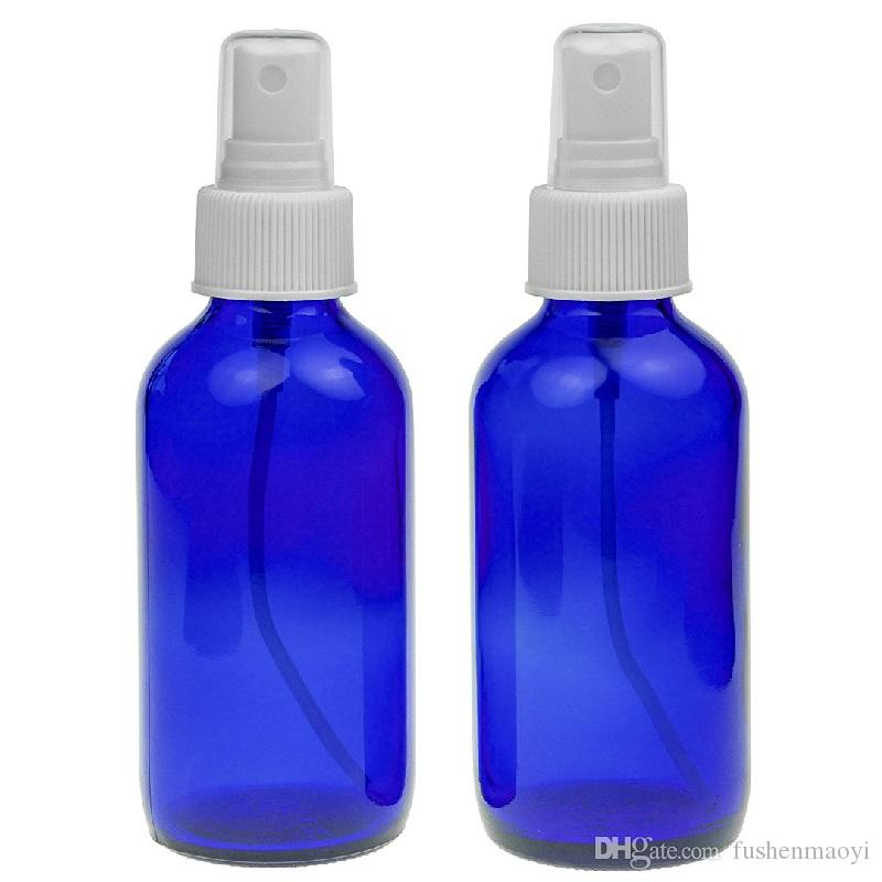 Cobalt Blue Glass Bottle Bottles with Black Fine Mist Pump Sprayer Designed for Essential Oils Perfumes Cleaning Products Aromatherapy