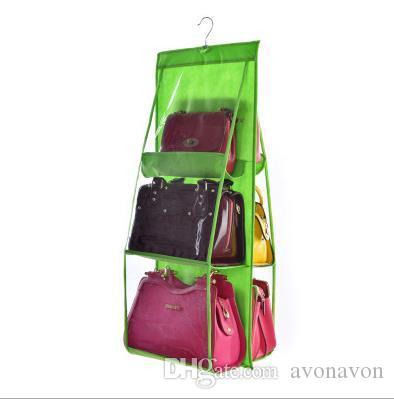 All'ingrosso- Vendita calda tasca borsa di stoccaggio in PVC armadio guardaroba cremagliera appendiabiti titolare la borsa della borsa di moda borsa borse organizzatore appendere a372