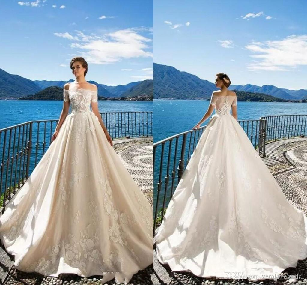 Discount Milla Nova 2018 Off The Shoulder Elegant Wedding Dresses ...