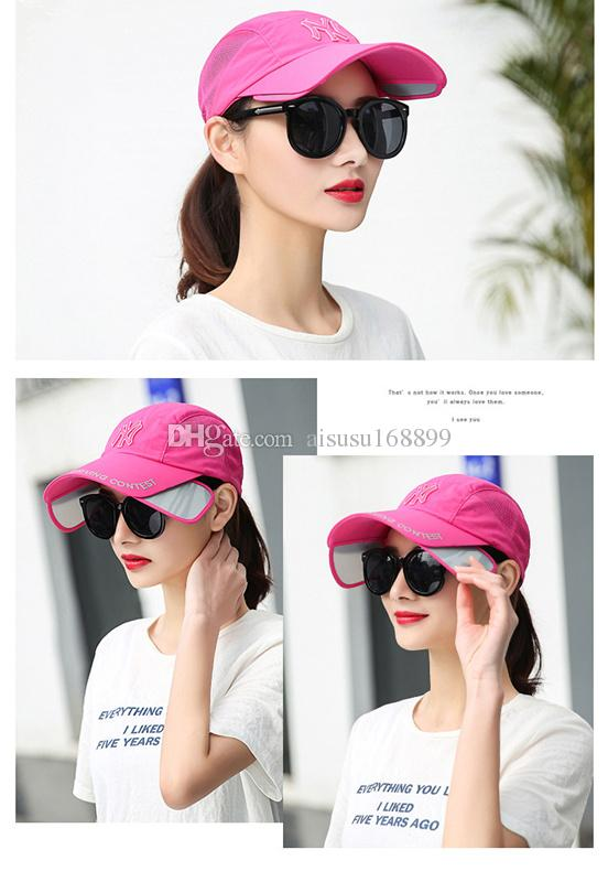 Fashionable Ladies Hats NY Letter Embroidered Baseball Caps Sunscreen Uv  Proof Hats Can Be Adjusted Wholesale Flat Cap Trucker Hats From  Aisusu168899 a417a5a8531