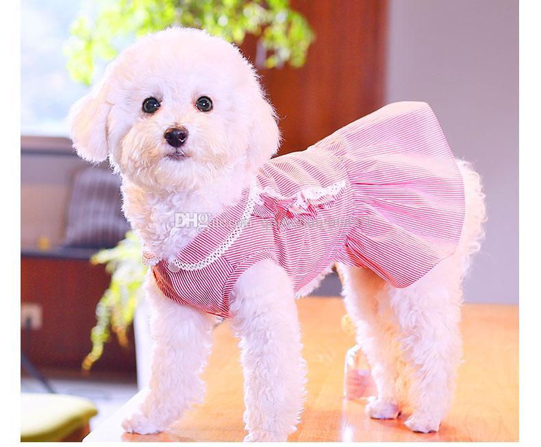 개를위한 애완 동물 꽃 복장 복장 의상 치마 공주 작은 개 머리띠와 핑크 블루 드레스 여름 웨딩 강아지 치와와 용품
