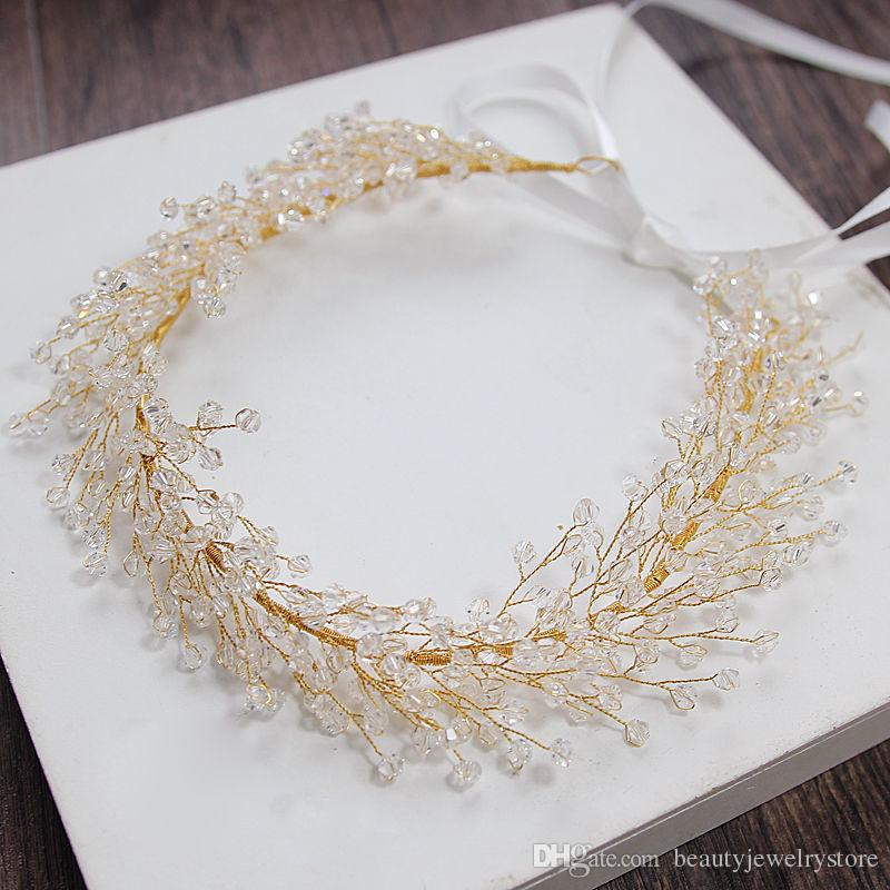 Europe Style Bridal Hair Accessories Shiny Beaded Headband Wedding Hair Jewelry Women's Special Occasion Hair Decoration