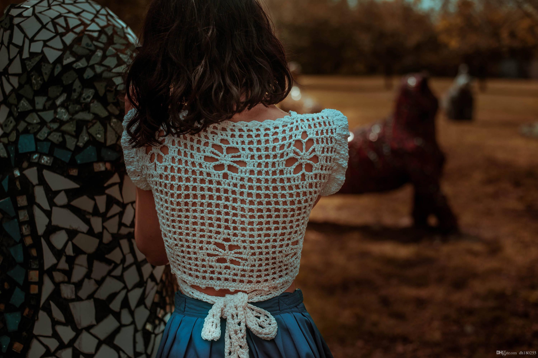 b4d754c3469cc 2019 Hand Crochet Crop Wrap Top
