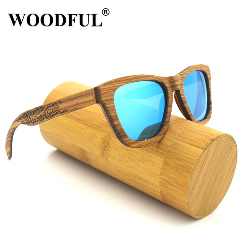 005f4f0939 Woodful Engraved Arms Temple Whole Logo Sunglasses Fashion Wood Bamboo Sun  Glasses Polarized For Mens Eyewear Designer Sunglasses From Sisan08