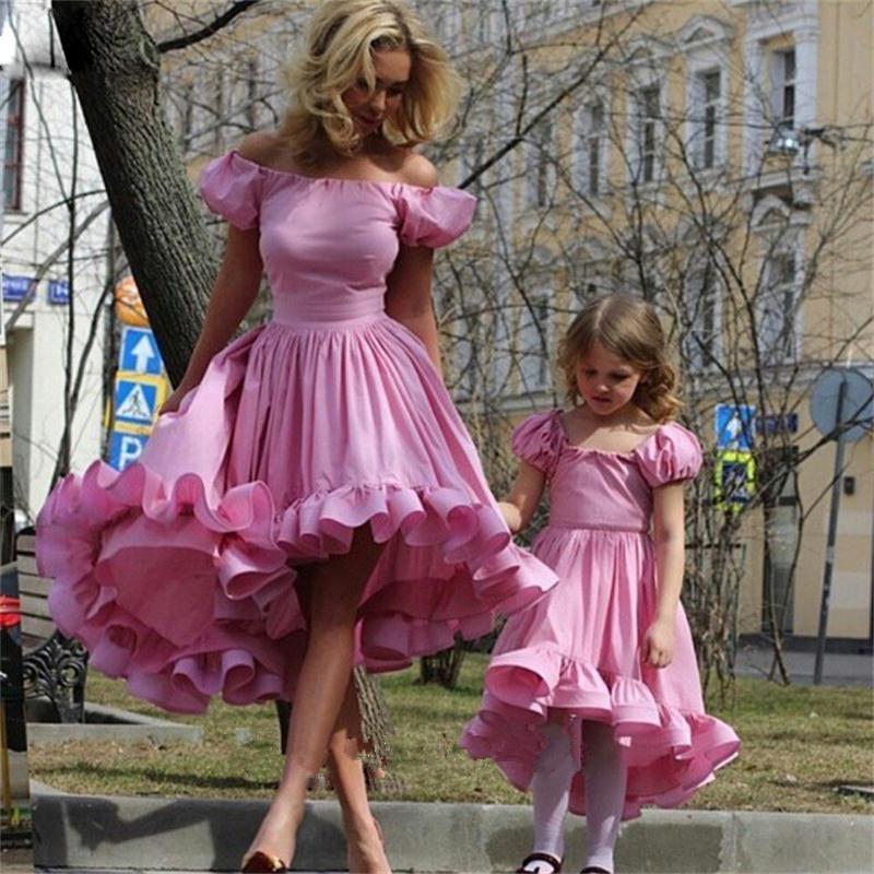 Pink Cap Sleeve Short Girls Fashion Kids Gown Flower Girl Dresses ...
