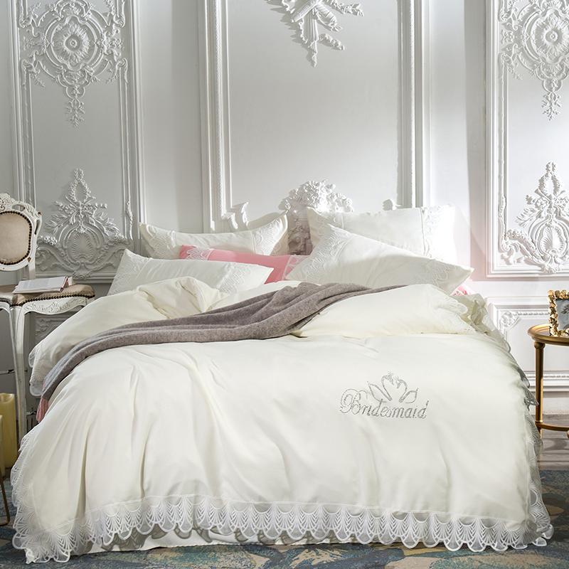 Acheter New Princess Style Dentelle Housse De Couette Ensemble De