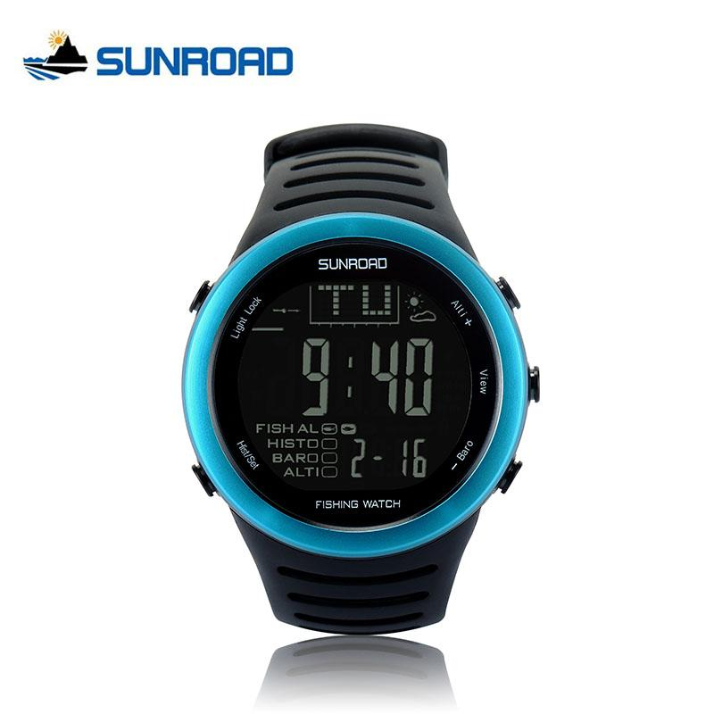 e9f7637d28a Compre Sunroad Pesca Relógio Barómetro Digital 5atm Altímetro Termômetro  Previsão Do Tempo Cronometrista Cronômetro Cronômetro Smart Watch Fr720 De  Meetsue