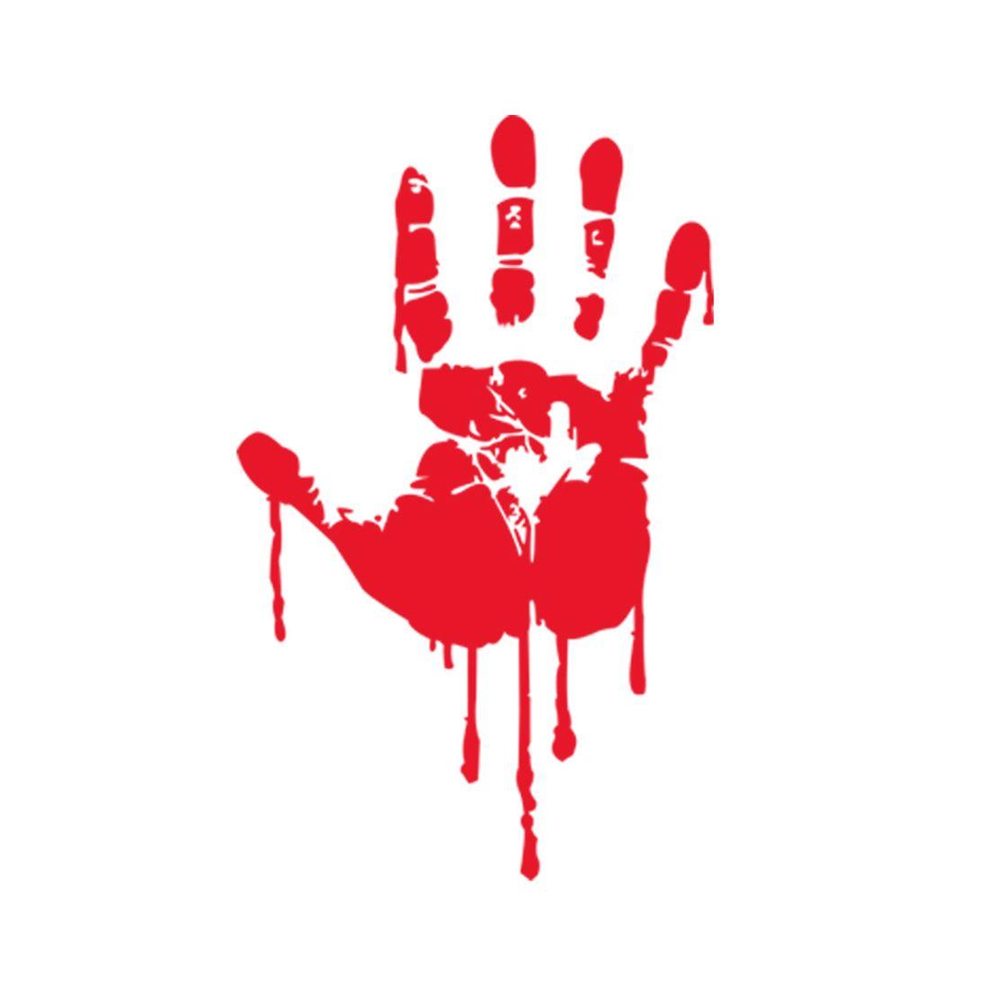 new lifelike halloween blood drop red handprint wall sticker 3d