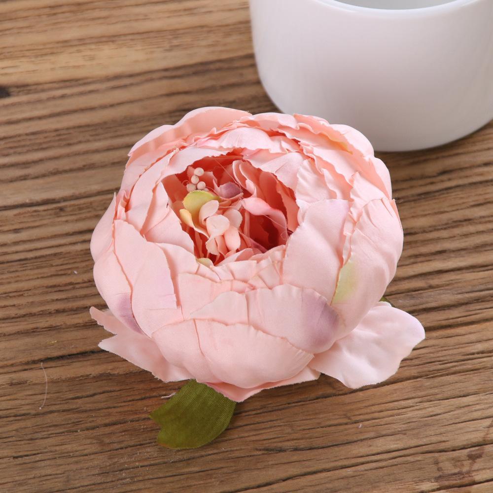 Artificial Silk flower Heads Peony Bud Big Rose Flower Heads wholesale for Wedding Decor,Flower Wreath, Flower Garland,Flower Ball