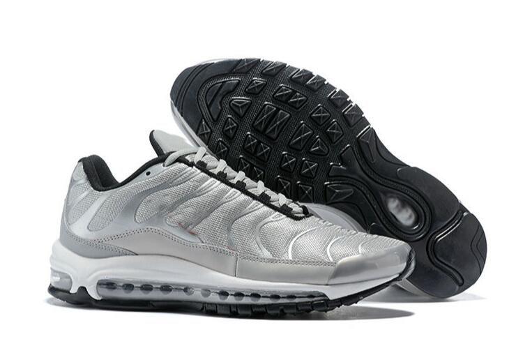 low priced c2b4f 85c0c Compre Padre Torpe Mejor Nombre Conjunto Nike Air Max Airmax 97 TN Hombres  Zapatillas Zapatos Clásico Cojín 97 Soles Hombres Mujeres Transpirable  Caminar ...