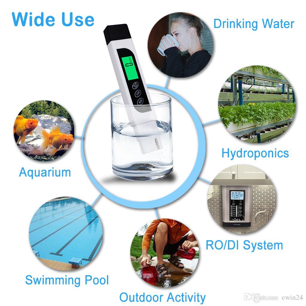 Misuratore digitale del tester di qualità dell'acqua 3-in-1 con TDS Misuratore di acqua ideale acqua potabile all'ingrosso