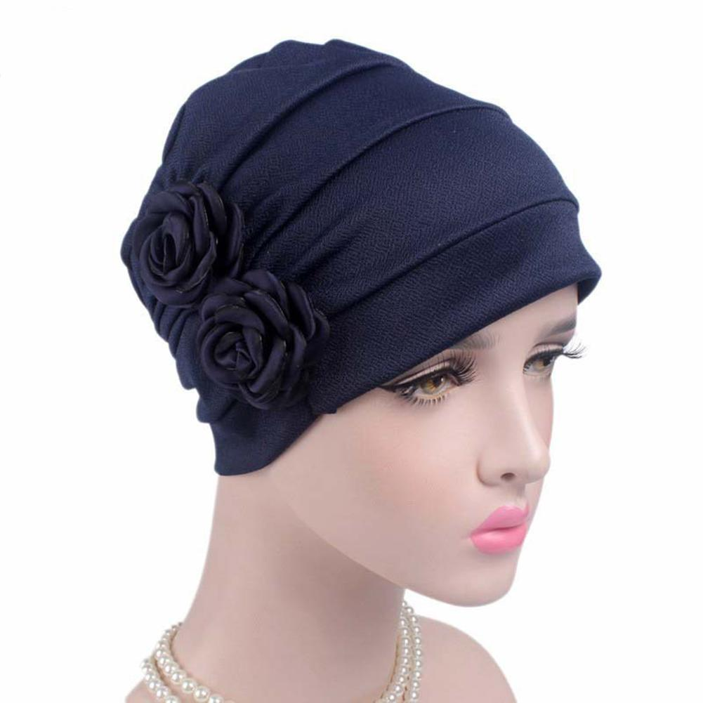 Ladies Elegant 3D Flower Hats Chemotherapy Caps New Style Fashion Hats For  Women s Sleep Soft Beanie Cap Winter Caps Cancer Black Baseball Cap Knitted  Hats ... 7eb908691ab
